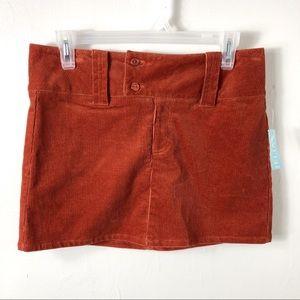 NWT Delia's Orange Corduroy Mini Skirt 7/8